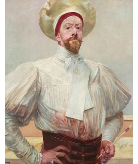 Reprodukcja obrazu Autoportret w białym stroju