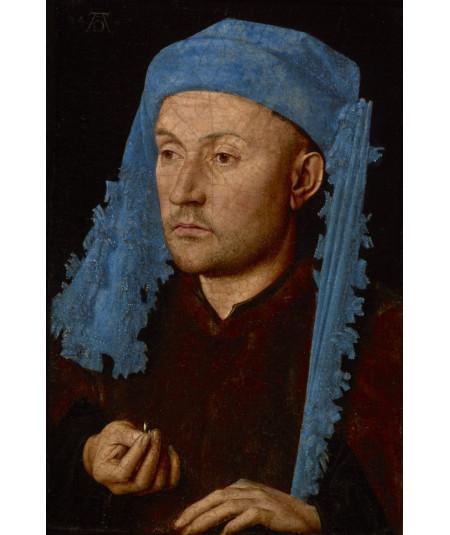 Reprodukcja obrazu Mężczyzna w niebieskiej czapce
