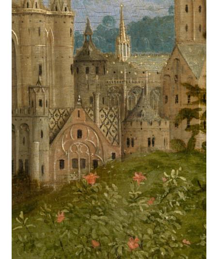 Reprodukcja obrazu Fragment budynków w mieście