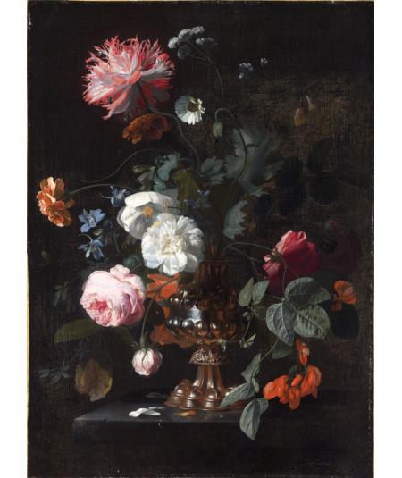 Reprodukcja obrazu Kwiaty w metalowym wazonie