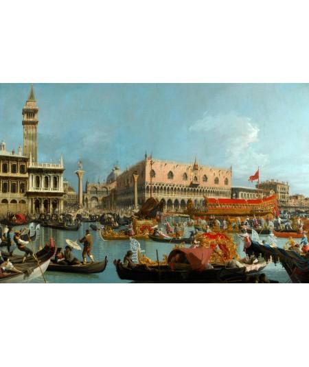 Reprodukcja obrazu Bucintoro wracają do Molo w Dzień Wniebowstąpienia po Ceremonii Zaślubin Adriatyku