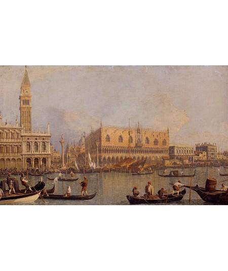 Reprodukcja obrazu Widok na Pałac Książęcy w Wenecji