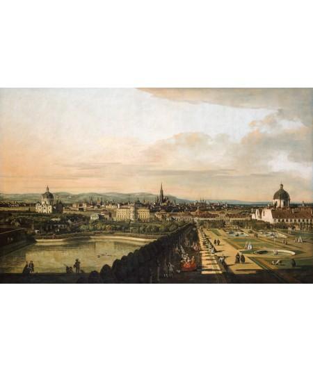 Reprodukcja obrazu Wiedeń widziany z Belwederu